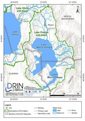 1_3 Map of the Lake Prespa sub-basin