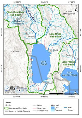 1_4 Map of the Lake Ohrid sub-basin
