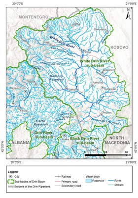 1_6 Map of the White Drin River sub-basin