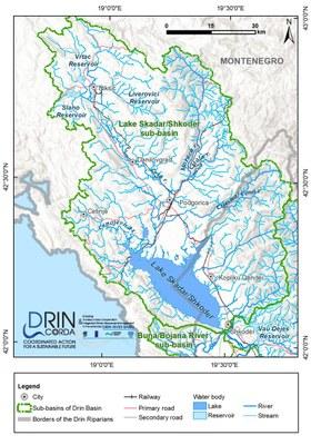 1_7  Map of the Lake Skadar Shkoder sub-basin